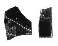 BASED ON PROMISES II / 2016 / Glas Stücke,  Ink-Jet Print auf Folie / verschieden Größen
